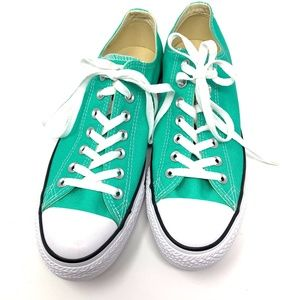 Converse All Star teal lace up shoes New size 9.5